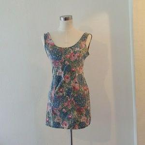 RVCA jean floral dress